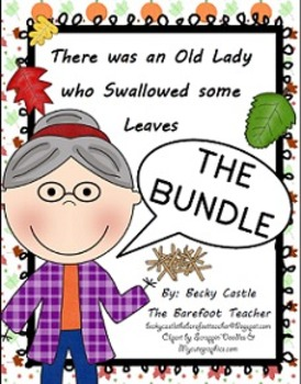 There was an Old Lady who Swallowed some Leaves - The Bundle (7 Activities)