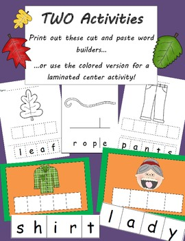 There was an Old Lady who Swallowed some Leaves -building vocabulary