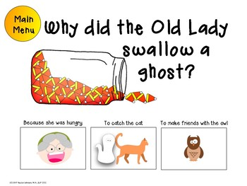 There was an Old Lady who swallowed a bat: Speech and Language Activities