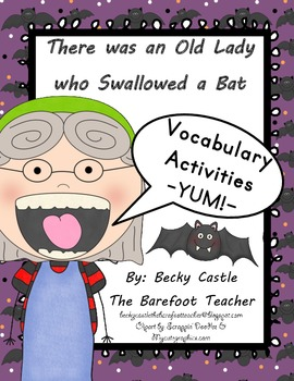 There was an Old Lady who Swallowed a Bat - building vocabulary