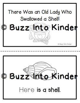 There was an old Lady Who Swallowed a Shell - Sight Word Readers