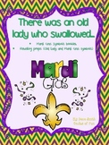 There was an old lady who swallowed... (Mardi Gras symbols