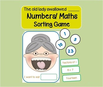 There was an old lady who swallowed a Number (Number Sorting Game)