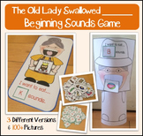 Old lady who swallowed a Sound (Beginning Sounds Sorting Game)