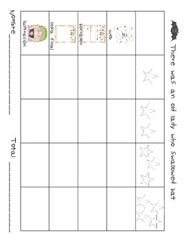 There was an old lady who swallowed a bat Spanish writing activity