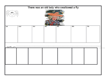 There was an old lady who swallowed a fly - Sequencing activity