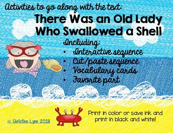 There Was an Old Lady Who Swallowed a Shell Activities