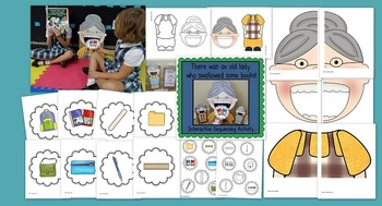 There was an Old Lady Who Swallowed Some Books! (Sequencing Activity)