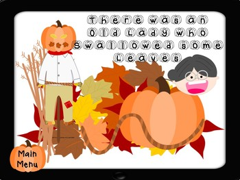 There was an old lady who swallowed some leaves: Speech and Language Activities