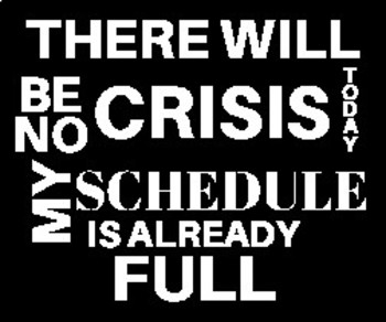 There will be no Crisis Poster