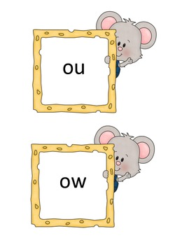 "There's A Mouse in the House! Reading and Spelling Words with ""ou"" and ""ow"""