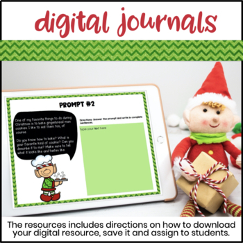 Elf Journal and Elf Writing Prompts