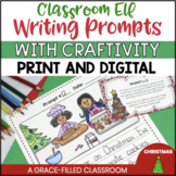 Elf Journal and Elf Writing Prompts and Craftivity | Elf Crativity