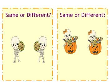 There's NO Bones About It! Visual Discrimination Packet with a FUN Oct theme!