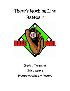 There's Nothing Like Baseball Vocabulary Posters