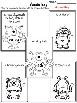 There 39 s a Nightmare in My Closet Literacy Activities by