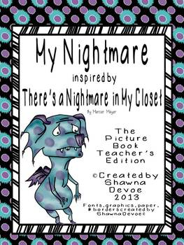 Writing Freebie inspired by There's a Nightmare in My Closet by Mercer Mayer