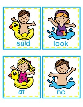 There's a Snake in My Pool!  A Sight Word Game