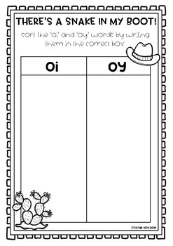 Diphthong oi & oy Activity Game! There's a Snake in my Boot!