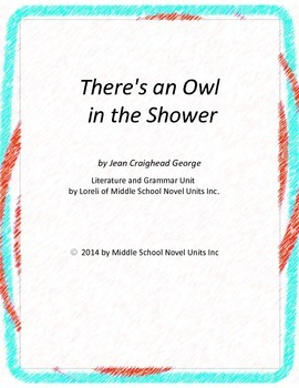 There's an Owl in the Shower Literature and Grammar Unit
