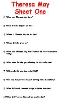 Theresa May Reading Comprehension