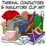 Thermal Conductors and Insulators Clip Art