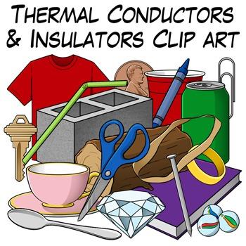Thermal Conductors and Insulators Clip Art