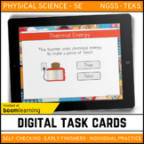 Thermal Energy Digital Task Cards - Boom Cards - Distance