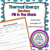 Thermal Energy Fill in the Blank Worksheet