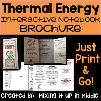 Thermal Energy (Heat) Interactive Notebook Brochure
