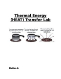 Thermal Energy (Heat) Transfer Lab Activity Stations