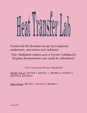 Heat Transfer  conduction, convection & radiation Station