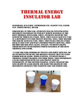 Thermal Energy Insulator Lab