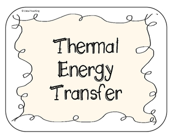 Thermal Energy Interactive Notebook