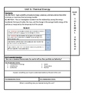 Thermal Energy NGSS Unit page for ISN