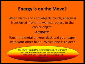 Thermal Energy Power Point Activity Presentation