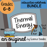 Thermal Energy Science Doodles Interactive Doodle BUNDLE - Science Notes