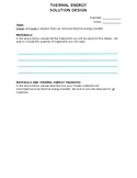 Thermal Energy Solution Design Packet