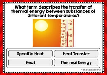 Thermal Energy Task Cards - Digital Boom Cards™