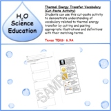 Thermal Energy Transfer Vocabulary Cut-Paste
