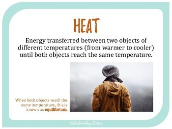 Thermal Energy Transfers - 6th Grade Science Vocabulary