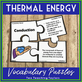 Thermal Energy Activities | Vocabulary Puzzles