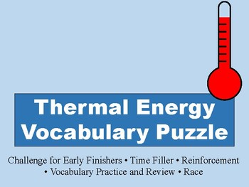 Thermal Energy Vocabulary Puzzle