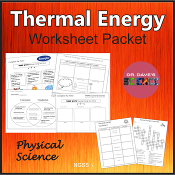 Thermal Energy Worksheets Graphic Organizers by Dr Dave's ...