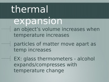 Thermal Energy and Heat Notes