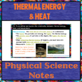 Thermal Energy and Heat Physical Science Notes