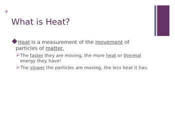 Thermal Energy and Heat Powerpoint