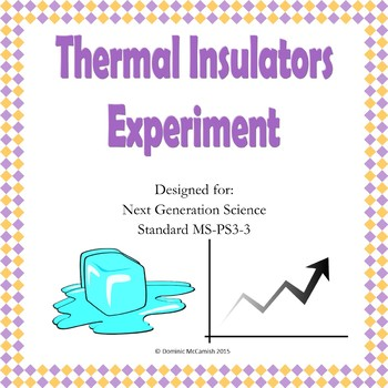 Thermal Insulators Lab Experiment NGSS MS-PS3-3