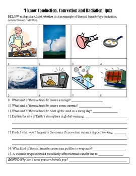 Popcorn Thermal Transfer Lesson with Quiz (Conduction, Convection & Radiation)