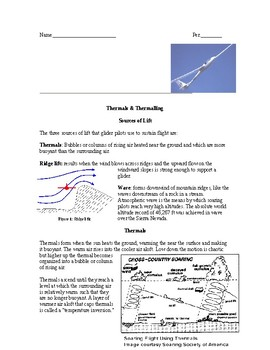 Thermals and Thermalling: Glider Pilots use Convection (energy flying)